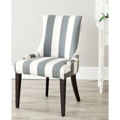Dining Chairs In Black And White White Fabrics