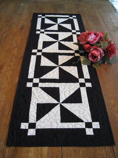 Patchwork Pinwheel Table Runner by Quiltedhearts5