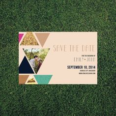 Geometric Bohemian Wedding Save the Date // 4.25x5.5 DIY Printable // Modern Wedding, Boho Wedding, Save the Date Magnet