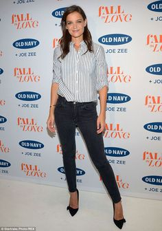 Long and lean: Katie returned to the Big Apple as New York Fashion Week kicked into high gear