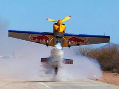 Red Bull Race Plane Bottoms up ! Stunt Plane, Bomber Plane, Post War Era, Amazing Red, Awesome, Float Plane, Old Planes, Red Bull Racing, Civil Aviation