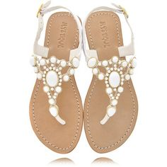 Anyone looking for wedding sandals? These would be perfect for a beach wedding.