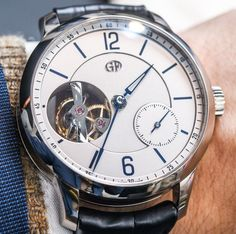"""Greubel Forsey Tourbillon 24 Seconds Vision Watch Hands-On - by Ariel Adams - deceptively simple-looking for GF, see and read more about it now on aBlogtoWatch.com """"I'm looking at the new-for-2015 limited edition Greubel Forsey Tourbillon 24 Secondes Vision watch and am joined by a very special person. Stephen Forsey is the kind of guy you want selling you watches that cost more than most houses around the world. The British contingent of the English/French duo that is Greubel Forsey…"""