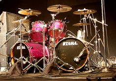 tama starclassic bubinga. ultra violet sparkle. this will be my next drumset (minus the extra bass drum)