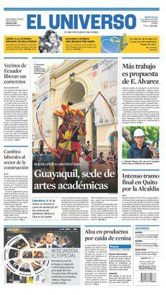 Portada de #DiarioELUNIVERSO del 12 de febrero del 2014. Las #noticias de #Ecuador y el mundo en: www.eluniverso.com
