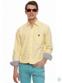 American Swan #Men Serendipity #Yellow #Shirt @YuvaStyle India
