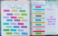 Honest Erin Condren Planner Review and How to Personalize SIMPLY! Use repositionable stickers to Meal Plan! Works like a charm.   #weloveec #erincondren  http://simply-in-control.blogspot.com