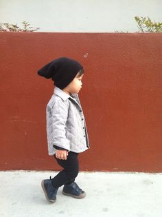 Quilted Jacket, All Saints  Leggings,  New Generals  Sneakers, 10IS  Hat, American Apparel