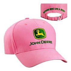 John Deere Brushed Twill Value Cap - Pink John Deere Hats, Baseball Cap, Baby Items, Cowboy Hats, Fashion Outfits, Pink, Shopping, Ebay, Berries
