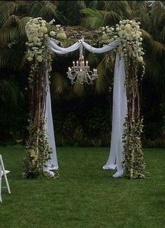 new Ideas for backyard wedding decorations ceremony backdrop hanging flowers Wedding Arbors, Wedding Arch Rustic, Diy Wedding, Wedding Ceremony, Wedding Venues, Wedding Flowers, Dream Wedding, Wedding Day, Trendy Wedding