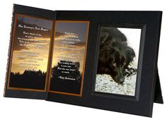 """""""If Tears Could Build a Stairway"""" Pet Loss Sympathy Picture Frame Gift and Memorial , with optional custom photo editing, Black with Foil Accent * You can find out more details at the link of the image. (This is an affiliate link) Pet Poems, Remembrance Gifts, I'm Still Here, Picture Frame Sets, Dog Items, Cat Memorial, Cat Accessories, Sympathy Gifts, Pet Gifts"""