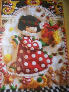 MARY ENGELBREIT Felt  Little Girl Christmas Morning  Wall Hanging Kit NIP 12 x18 #Bucilla