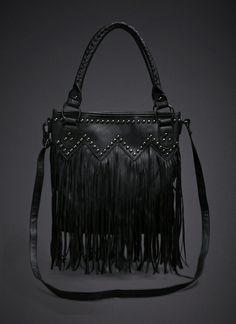 Fringe Studded Bag   Bags Black Magic Woman, Studded Bag, Everyday Dresses,  Rock e079de8602