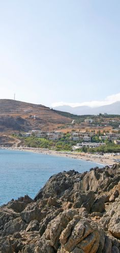 Damnoni beach in Rethymno, Crete