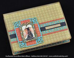 Enchanted Accordion Mini Album.  This mini is an accordion style with pockets.  Please visit my blog for the link to the Snapguide (free tutorial). www.webofcreativity.net