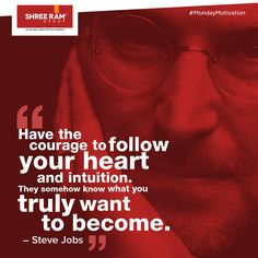 When all great people say 'follow your heart', that must truly be the secret to success! #MondayMotivation