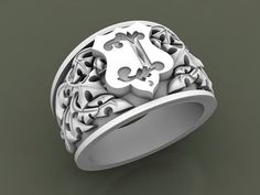 Customized Heraldic or Coat of Arms ring Custom Signet Ring, Design Your Own Ring, Handmade Rings, Hand Engraving, Coat Of Arms, Precious Metals, Ring Designs, Silver Rings, Jewelry Design