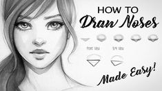 How to Draw Noses Made Easy #Drawingtips