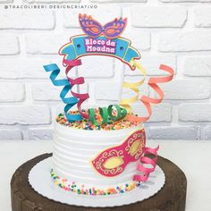 Bolo Original, Paper Cake, Ideas Para Fiestas, Cake Toppers, Cake Decorating, Birthday Cake, Sweets, Desserts, Food