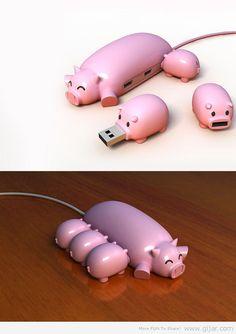 Curios set de cochinitos USB ;-]