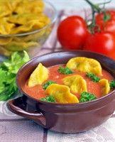 Tomato #Soup with #Dumplings // Zupa pomidorowa z pierożkami