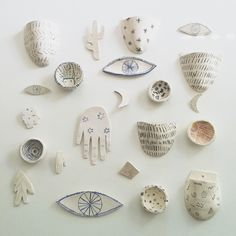 A lovely collection of ceramics by chau nguyen on http://nest.rckshw.com/ eye, planter, hand, bowl