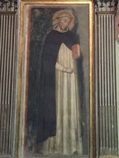 One of the first images of St. Dominic. St. Dominic Church, Bologna, Italy.