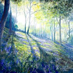 'Morning Bluebells' Acrylic on canvas https://www.facebook.com/pages/Rita-Readman-Art/270262966411327