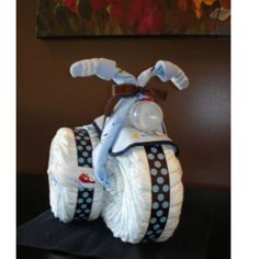 Baby shower diaper motorcycle