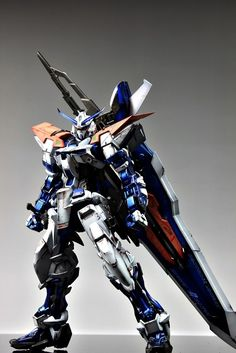 GUNDAM GUY: MG 1/100 Gundam Astray Blue Frame 2nd Revise - Customized Build