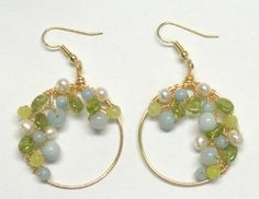 Spring Garlands Wire Wrapped Earrings Tutorial - The Beading Gem's Journal