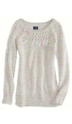 I like this sweater from AE. I need more neutral sweaters like this.