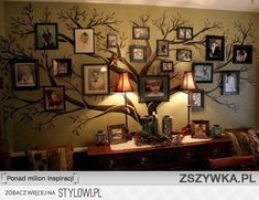 family tree wall decor decal - My husband is going to paint a family tree mural in our hall, but it will be taller and not as bold as this tree. Nonetheless, pinning for inspiration. Family Tree Wall Decor, Family Trees, Family Room, Family Wall, Big Family, Quote Family, Funny Family, Modern Family, Brady Family