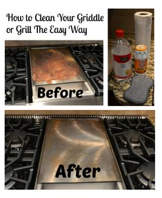 Cleaning Your Griddle (Or Grill) The Easy Way – The Creative Physician How To Clean Bbq, How To Clean Rust, Clean Grill, Grill Cleaning, Cleaning Agent, Cleaning Tips, Flat Top Griddle, Griddle Grill, Grill Grates