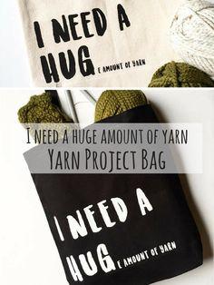 Craft Project Bag | I need a huge amount of yarn #knit #crochet #yarn #affiliate