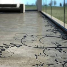 If I ever have concrete floors, I will do something like this.