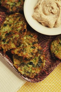 Zucchini and fresh herb fritters