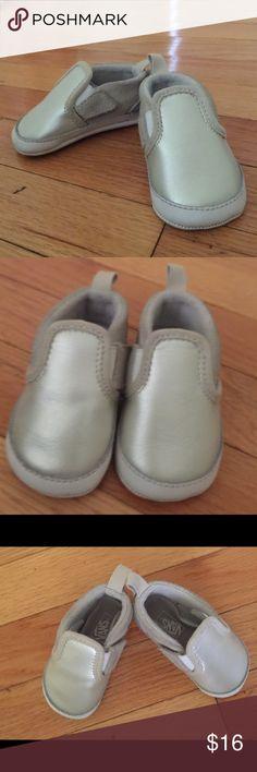 fecd255c79c4d5 NWOT baby girl silver Vans shoes NWOT silver Vans baby girl shoes