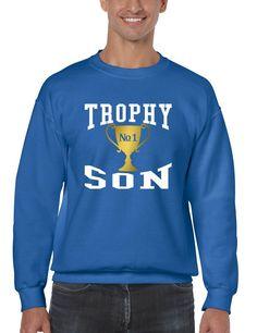 Men's Sweatshirt Trophy Son Cool Gift Love Graphic Top