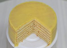 """This recipe for lemon cheesecake by the Southern chef Edna Lewis was featured in a Times article about Southern cakes It is a lovely layer cake that makes economical use of yolks and whites, and it's nothing like what a New Yorker thinks of as cheesecake The """"cheese"""" is really an eggy lemon curd piled between layers of cake made sturdy by egg whites.  Picture is of one of Dean's since  NYTimes didn't have a picture."""