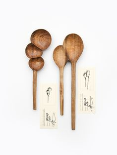 wooden spoons hand carved by Ferreol Babin