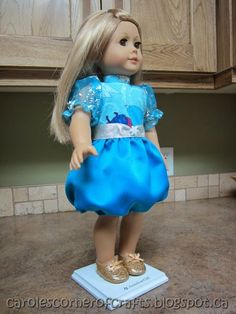 Carole's Corner of Crafts: American Girl Doll Bubble Dress Tutorial AG024