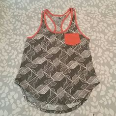 NOLLIE grey and coral tank Great condition Nollie Tops Tank Tops
