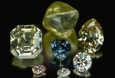 49% of diamonds originate from South and Central Africa, although significant sources have been found in Canada, India, Russia, Brazil and Australia.