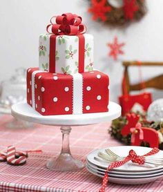 25 simple Christmas cake ideas - diy for everything - Weihnachtstorten - Healt and fitness Easy Cupcake Recipes, Cake Mix Cookie Recipes, Cake Mix Cookies, Christmas Cake Designs, Christmas Cake Decorations, Christmas Cakes, Christmas Gifts, Xmas Cakes, Holiday Cakes