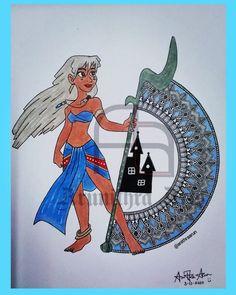 Kida👸 Mandala Design, Mandala Art, Disney Princesses, Princess Zelda, Fictional Characters, Fantasy Characters, Disney Princess, Disney Princes