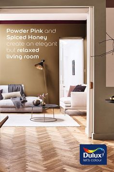 Our Colour of the Year 2019, Spiced Honey could transform your living space!  #SpicedHoney #LivingRoom #LivingRoomIdeas #InteriorTrends
