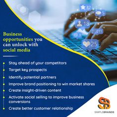 Social media presents a lot of business opportunities for your brand. We can help in developing social media marketing strategies along with other digital marketing strategies. Digital Marketing Strategy, Marketing Strategies, Social Media Marketing, Web Design Services, Advertising Agency, Business Opportunities, Opportunity, Insight, Presents