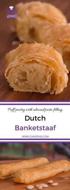 This banketstaaf recipe is an easy recipe for the traditional Dutch Banketstaaf…. This banketstaaf recipe is an easy recipe for the traditional Dutch Banketstaaf. Dutch Banket Pastry is puff pastry with filling. A Christmas treat. Puff Pastry Desserts, Puff Pastry Recipes, Köstliche Desserts, Dessert Recipes, Dutch Desserts, Choux Pastry, Plated Desserts, Christmas Baking, Cheesecakes