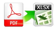 PDF to XLSX converter converts the entire PDF tables to editable excel spreadsheet and also it helps you to recover all the texts, layout and numbers in PDF tables